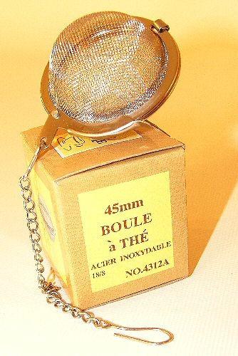Boule à infuser de 4.5 cm , avec chaine