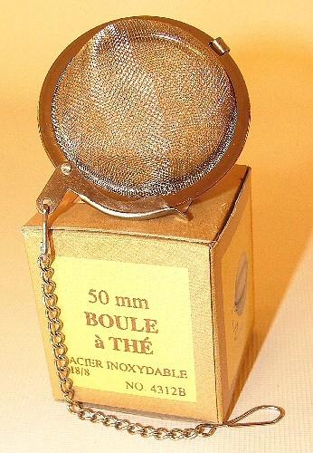 Boule à infuser, diamètre de 5 cm, avec chaine