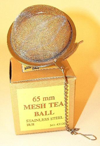 Boule à infuser, diamètre de 6.5 cm avec chaine.